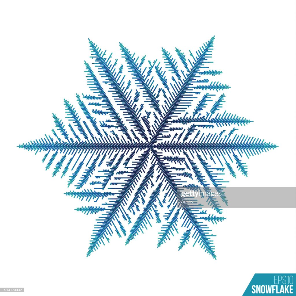Abtract ice pattern. Vector snow background. Line style winter pattern