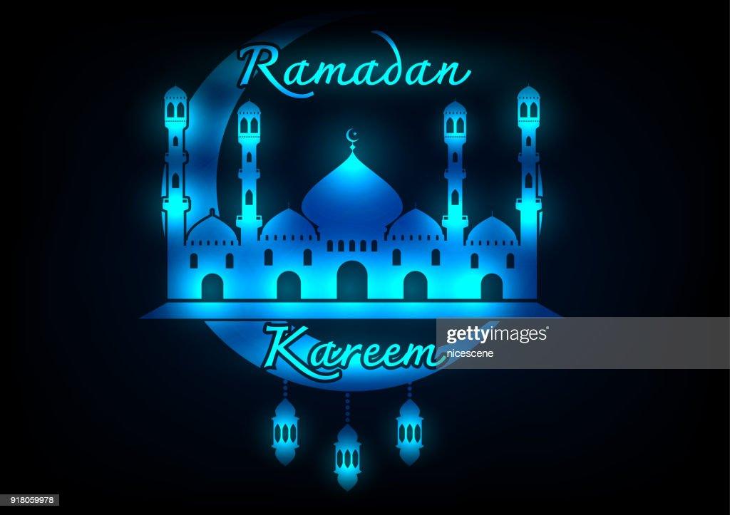 Abtract Ramadan Kareem greeting background.