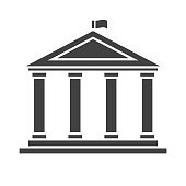 Academic Temple Outline Vector Icon