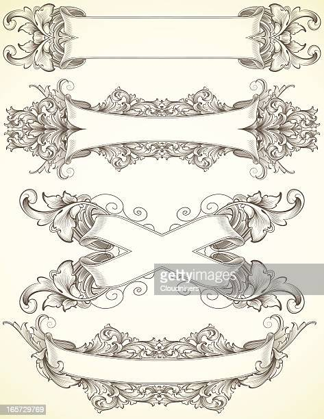 Acanthus Engraving Banners