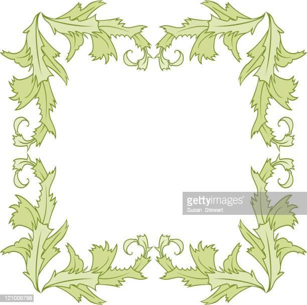 Acanthus leaf frame