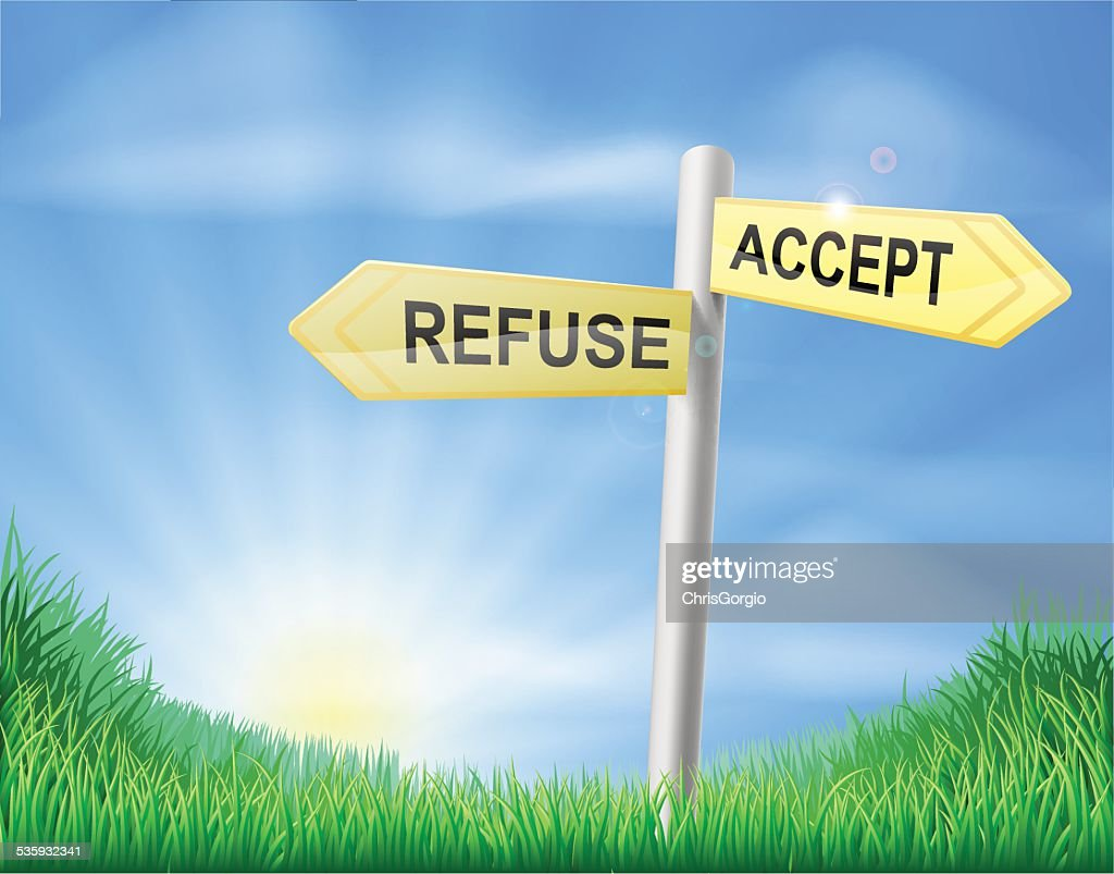 Accept or Refuse decision sign : Vector Art