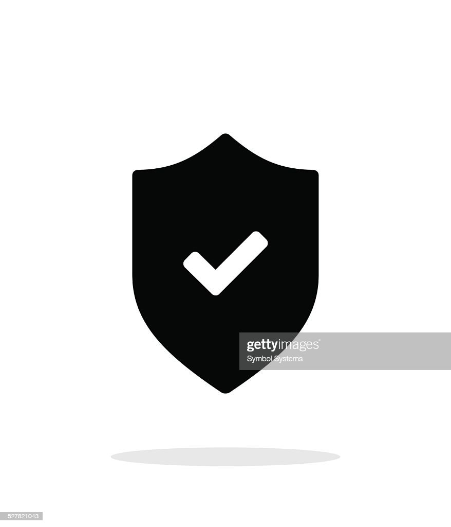 Accept shield icon on white background.