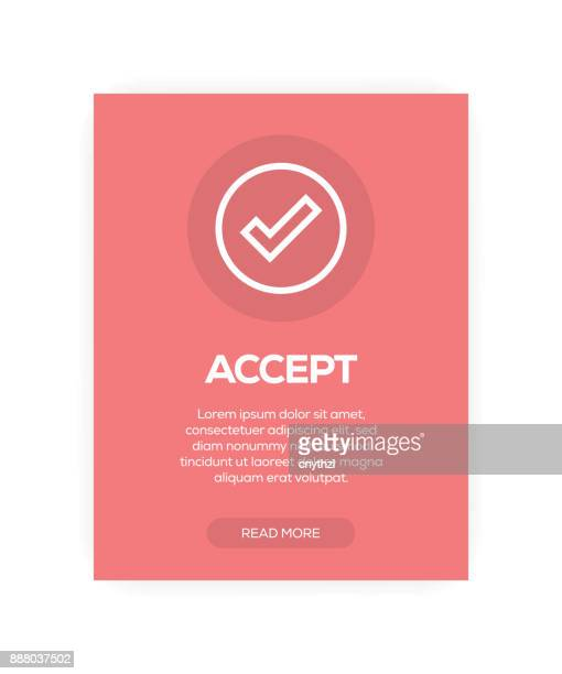 accept sign - validation stock illustrations, clip art, cartoons, & icons