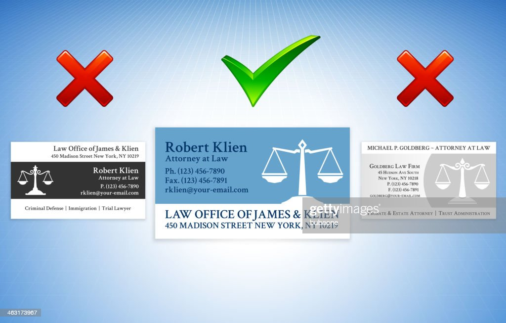 Accepted Rejected Lawyer Business Card Styles Vector Art | Getty ...