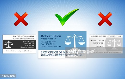 Accepted rejected lawyer business card styles vector art getty images colourmoves