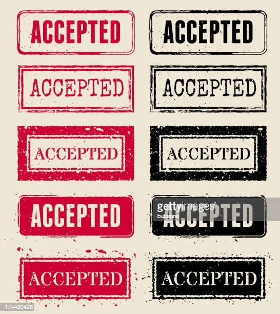 accepted vector rubber stamp collections - receiving stock illustrations, clip art, cartoons, & icons