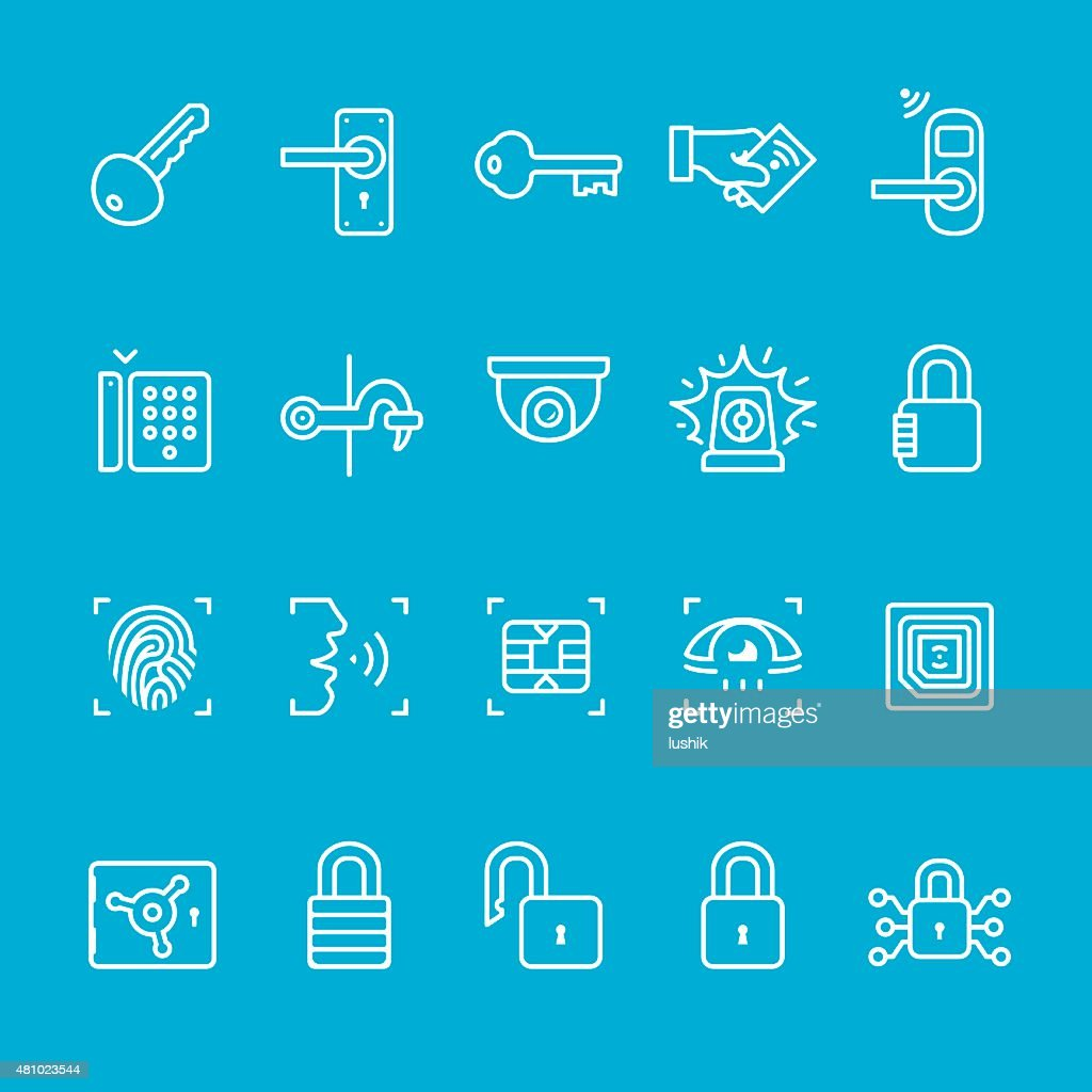 Access control icons collection : stock illustration