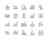 Access equipment line icons, linear signs, vector set, outline concept illustration