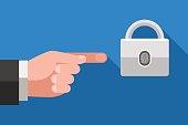 Access to data using fingerprint info