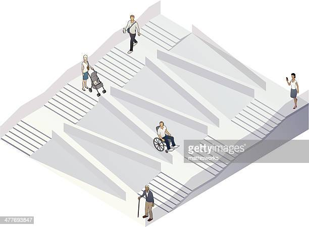 accessibility illustration - mathisworks architecture stock illustrations