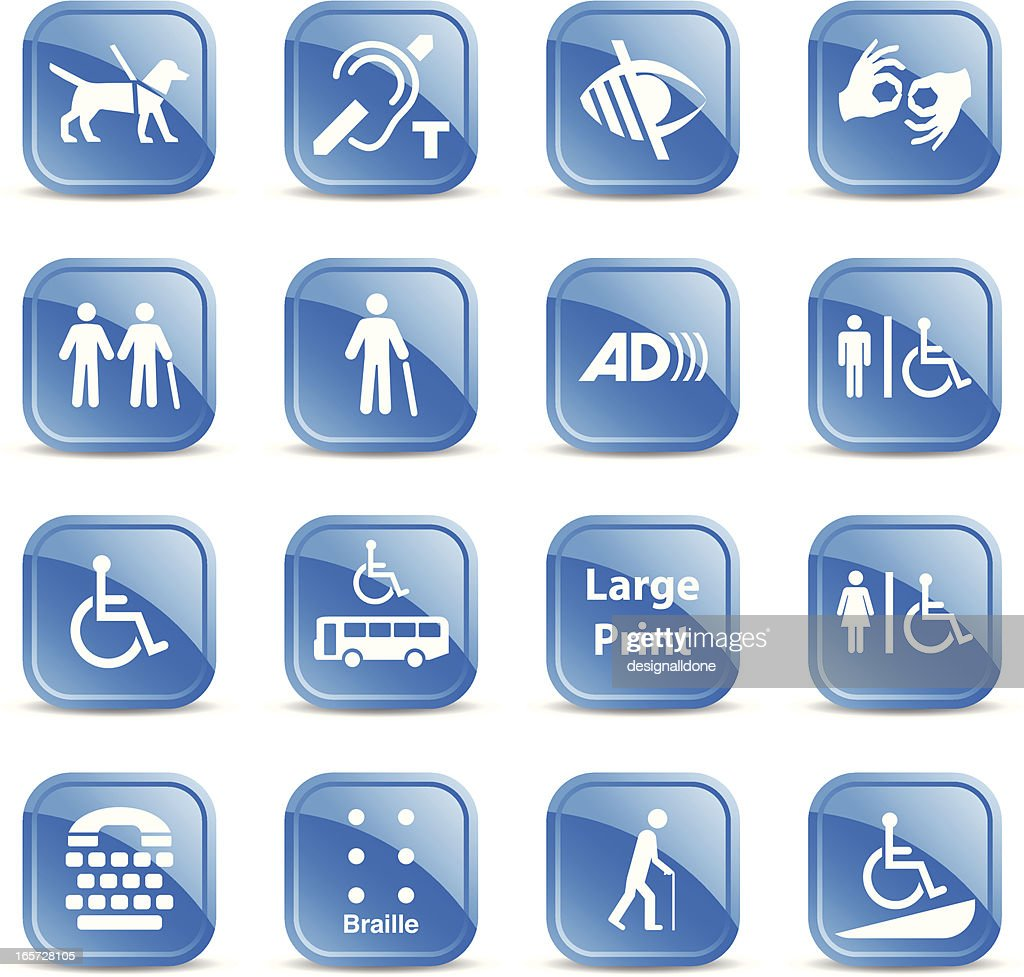 Accessibility Signs : stock illustration
