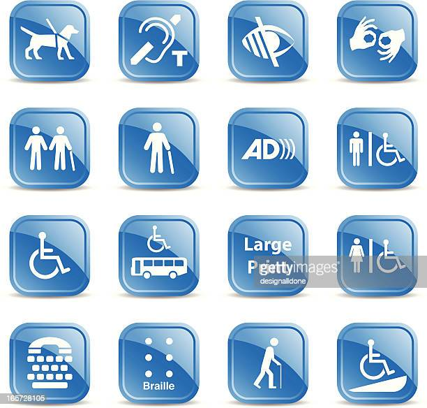 accessibility signs - sign language stock illustrations, clip art, cartoons, & icons