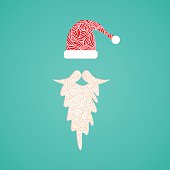 Accessories Santa Claus - hat and beard. Christmas collection