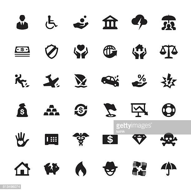 Accident And Insurance vector symbols and icons