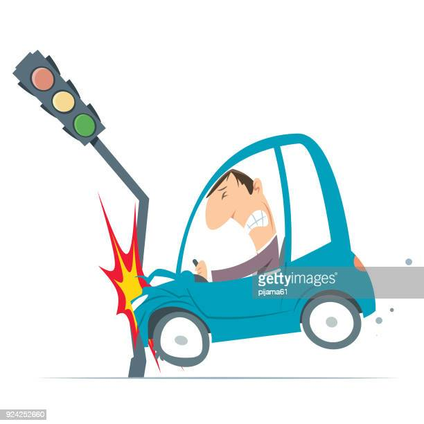 ilustrações de stock, clip art, desenhos animados e ícones de accident car - acidente de carro