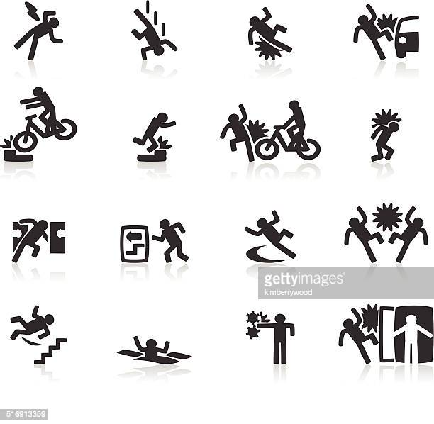 accident icon - occupational safety and health stock illustrations, clip art, cartoons, & icons