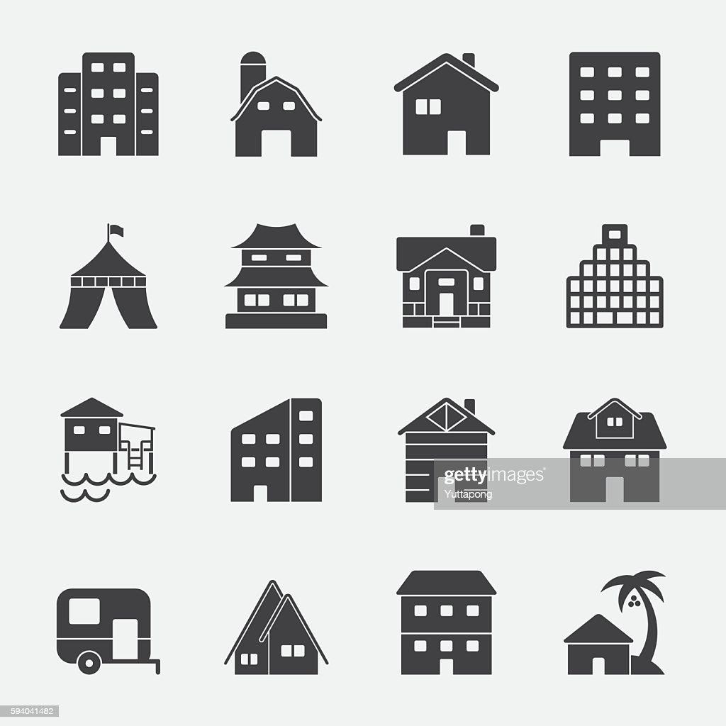Accommodation vector icon