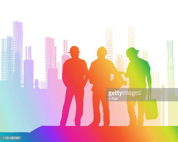 according to the plan construction rainbow - rod stock illustrations, clip art, cartoons, & icons