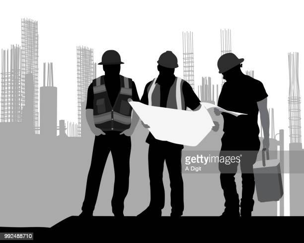 according to the plan construction - rod stock illustrations, clip art, cartoons, & icons