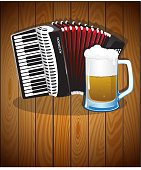 Accordion and  beer mug