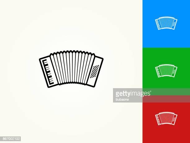 accordion black stroke linear icon - accordion stock illustrations