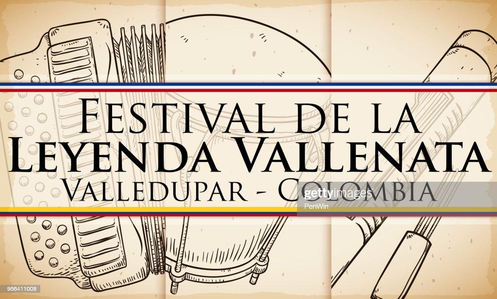 Accordion, Caja Vallenata and Guacharaca for Vallenato Legend Festival
