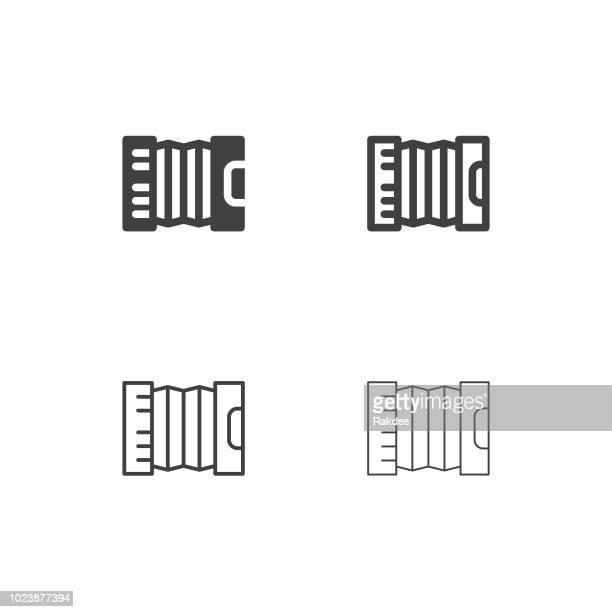 accordion icons - multi series - accordion stock illustrations