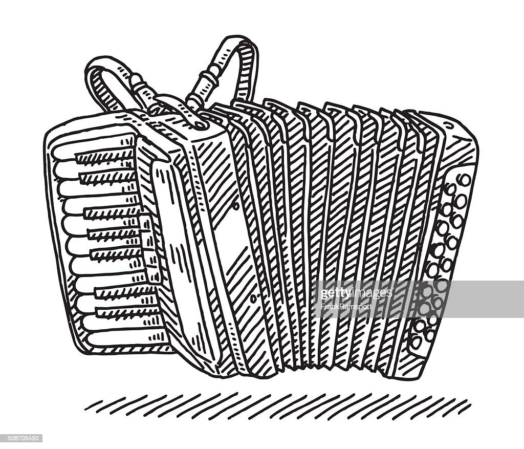 Accordion Musical Instrument Drawing