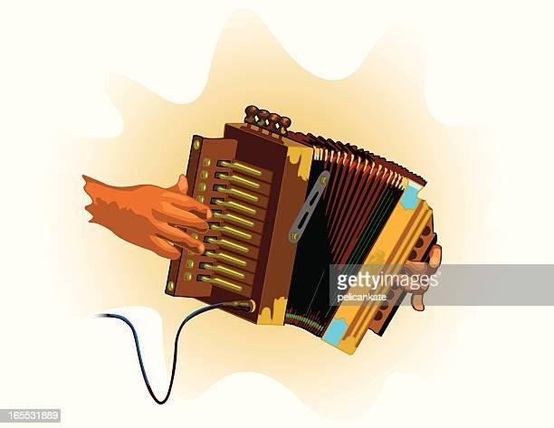 accordion - zydeco stock illustrations