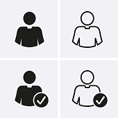 Account user Icon. Vector for web