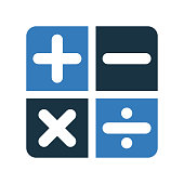 Accounting, calculation sign icon. Glyph vector isolated on a white background