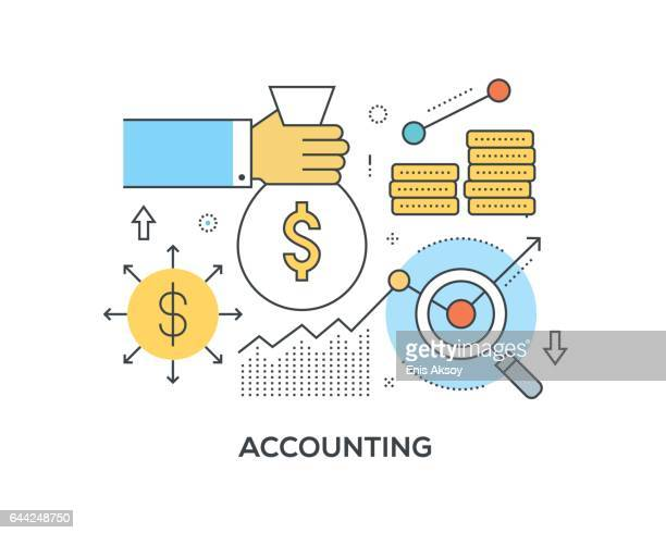 accounting concept with icons - accountancy stock illustrations, clip art, cartoons, & icons
