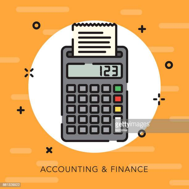 accounting & finance open outline business icon - accounting ledger stock illustrations, clip art, cartoons, & icons