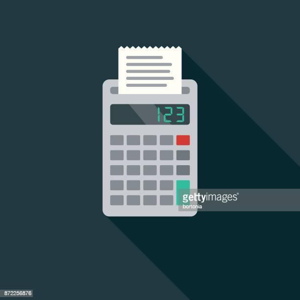 Accounting Flat Design Business Icon with Side Shadow