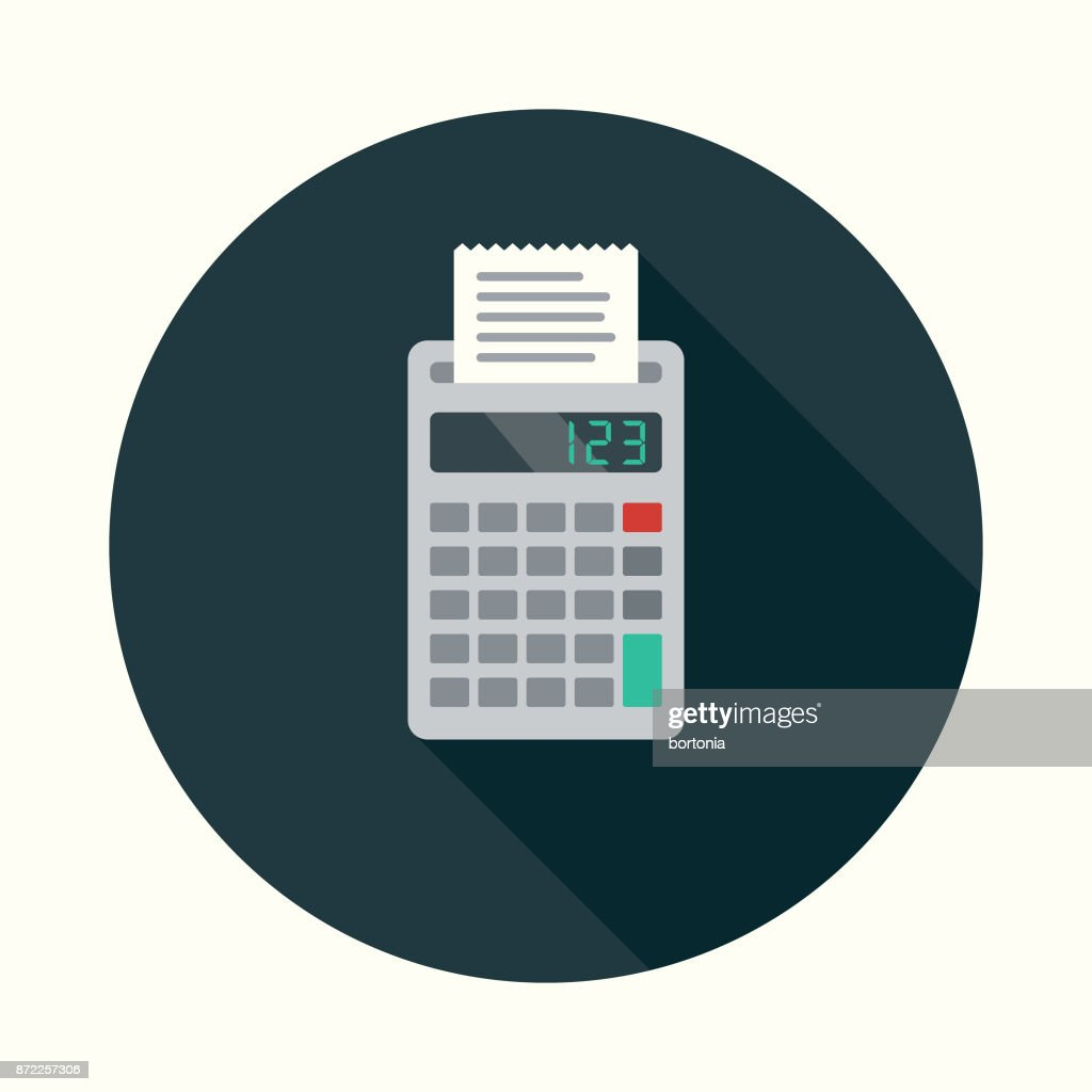 Accounting Flat Design Business Icon With Side Shadow Vector Art