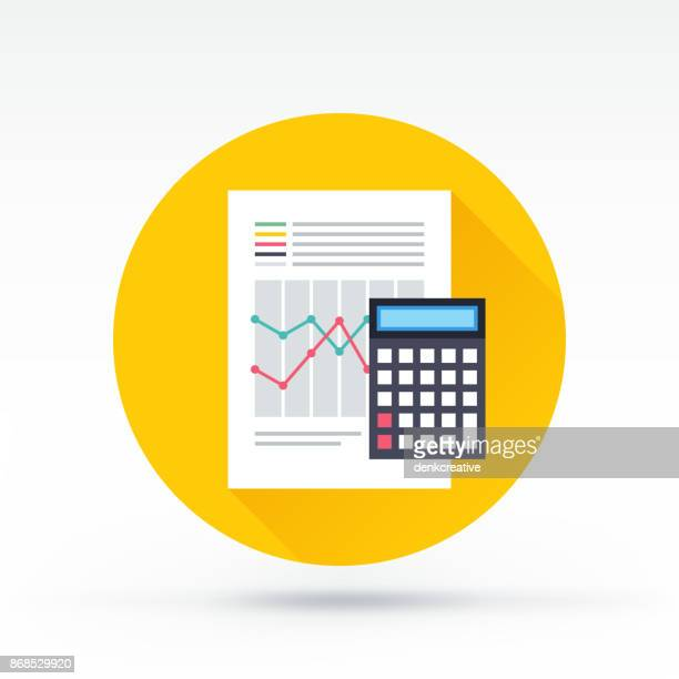 accounting icon - spreadsheet stock illustrations
