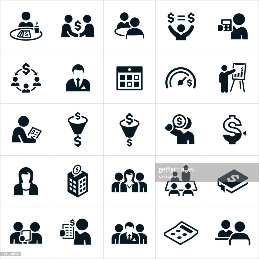 Accounting Icons : stock illustration