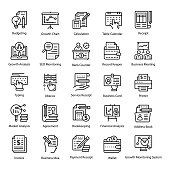 Accounting Line Icons Pack