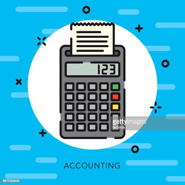 accounting open outline banking & finance icon - receipt stock illustrations, clip art, cartoons, & icons