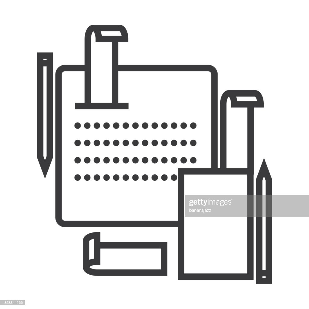 Accounting System Vector Line Icon Sign Illustration On Background Editable Strokes