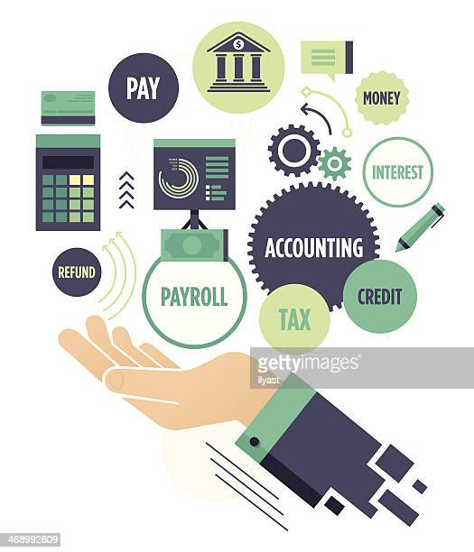 accounting - paycheck stock illustrations, clip art, cartoons, & icons