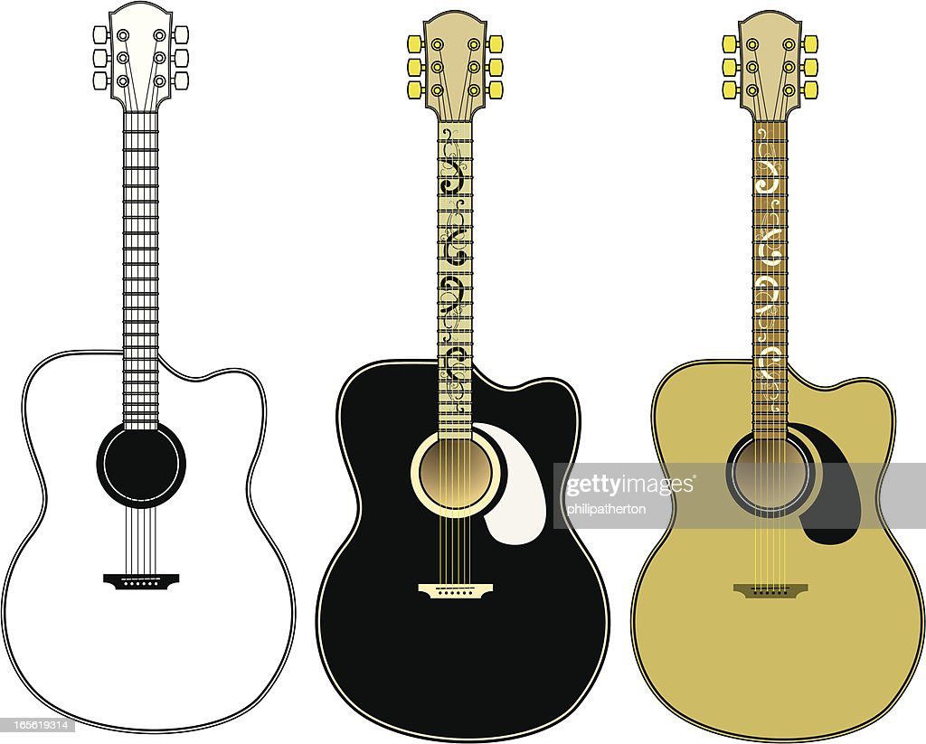 Accoustic Guitar Vector Set Vector Art Getty Images