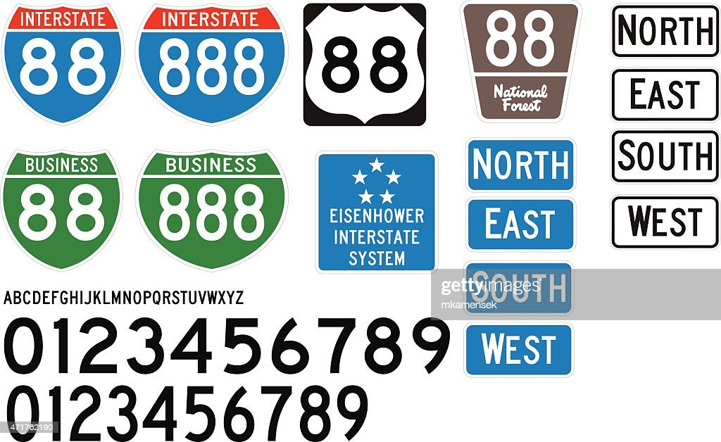 Accurate Interstate Highway Signs and Letters