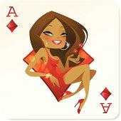 Ace of Babes Mini (Diamonds)