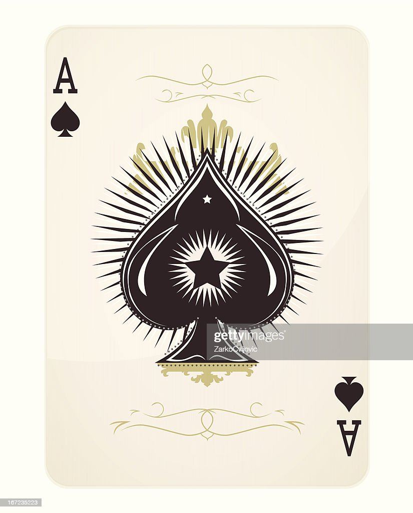 Ace of spades playing card design