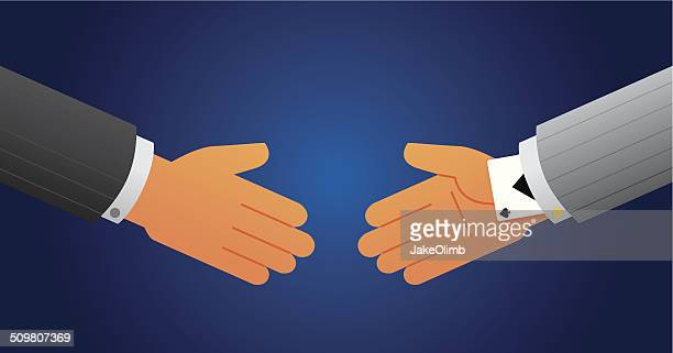 ace up sleeve handshake - ace stock illustrations, clip art, cartoons, & icons
