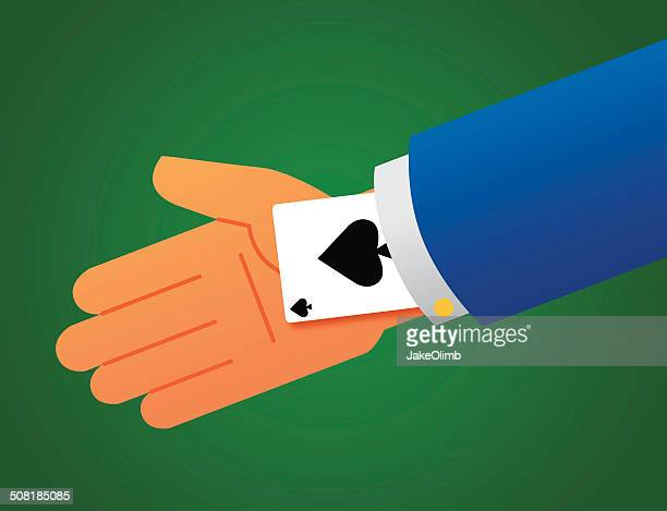 ace up sleeve - ace stock illustrations, clip art, cartoons, & icons