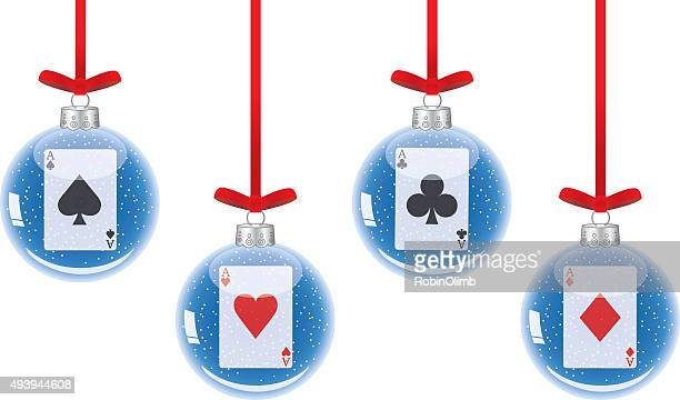 Aces Christmas Ornaments