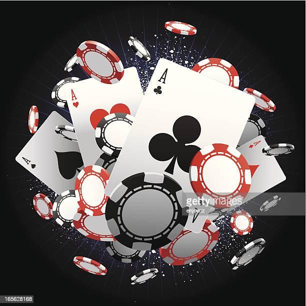 aces - casino stock illustrations